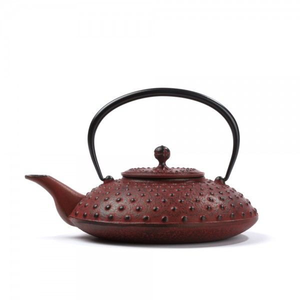 "Japanese cast iron teapot - ""Kanbin"" - red 0,7 L"