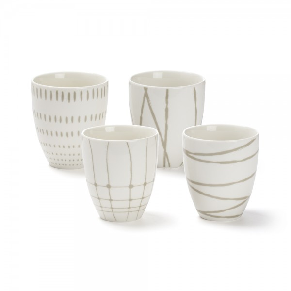 """Variation"", bol à thé 30 cl, décors assortis / 30 cl tea bowl assorted patterns"