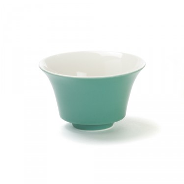 Color' jade green porcelain tea bowl, 12,5  cl