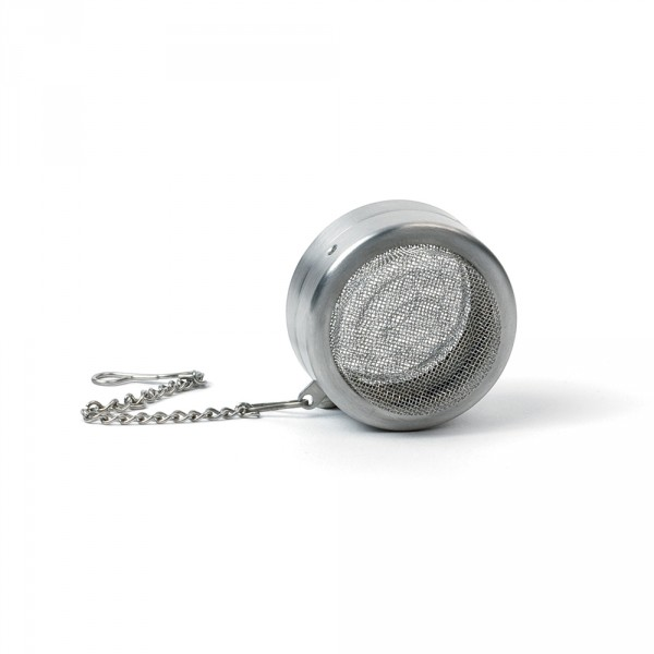Round tea infuser, stainless steel and mesh