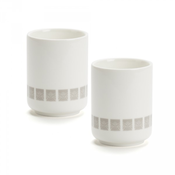 LOBBY - SET of 2 bowls - grey pattern