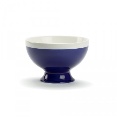 CAMPAGNE - Large bowl 35 CL - Dark blue and white
