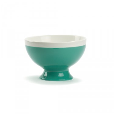 CAMPAGNE - Large bowl 35 CL - Green and white