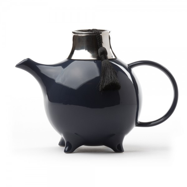 Fez' ceramic teapot with filter - 1 L - Dark blue