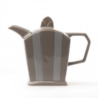 Ceramic teapot - ''Art Déco'' brown grey