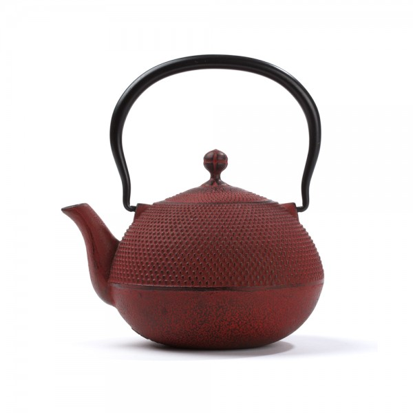 Japanese cast iron teapot - Natsume 0,75 L - red