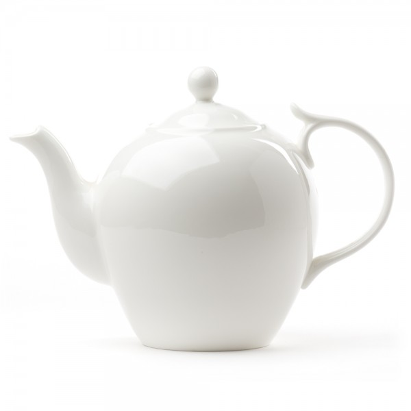 porcelain teapot bone china quality teapot 1 4 l white. Black Bedroom Furniture Sets. Home Design Ideas