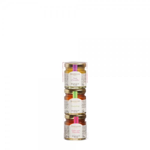 Set of 3 assorted tea jellies