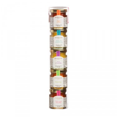 Set of 5 assorted tea jellies