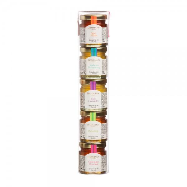 Tube de 5 mini-pots de spécialités au thé