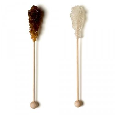 100 Candi-tasse panaché blanc et brun, longueur 16 cm (50+50)