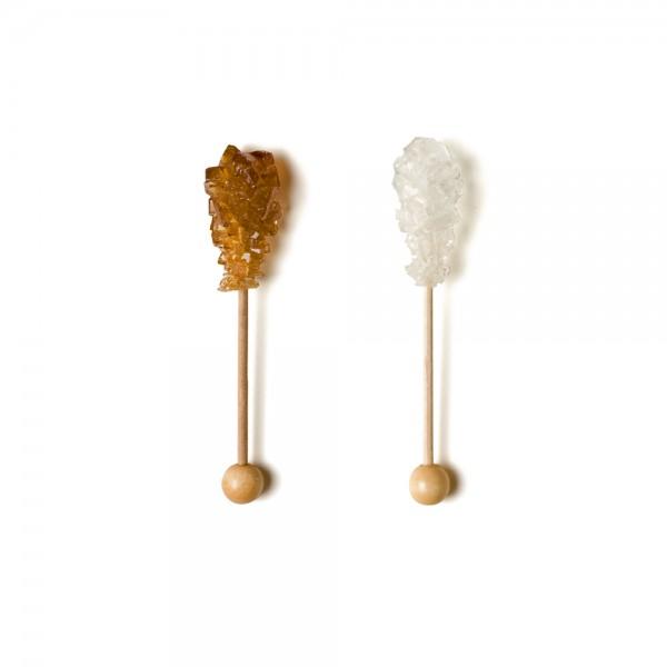100 Candi-tasse panaché blanc et brun, longueur 9 cm (50+50)