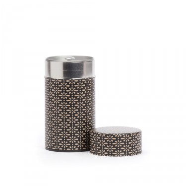 """Deiji"", black and ivory washi paper tea box 100 g"