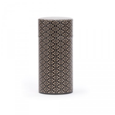 """Deiji"", black and ivory washi paper tea box 150 g"