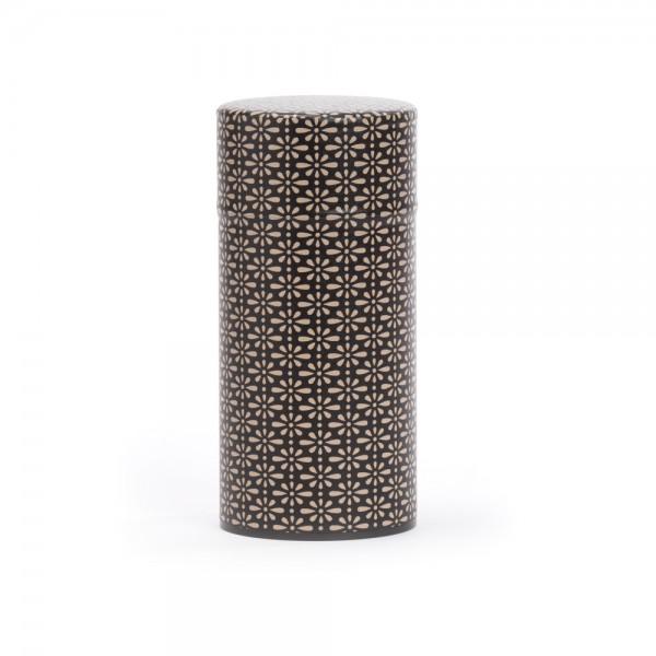 """""""Deiji"""", boîte à thé washi noire et ivoire 150 g"""