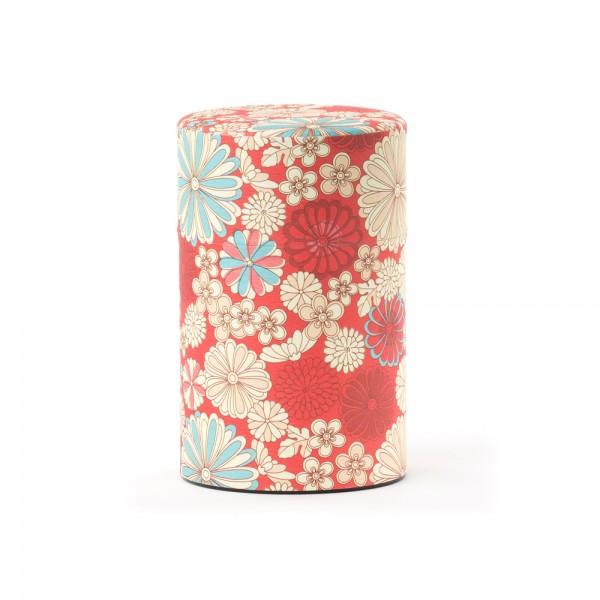 boîte à thé Washi ''Fleurs''