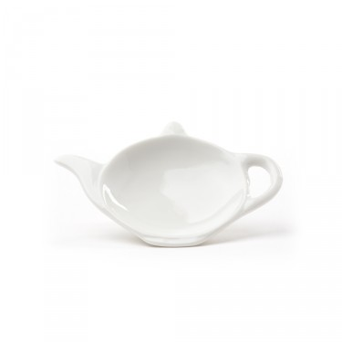 Teapot-shaped tea bag tray