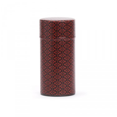 """Deiji"", black and red washi paper tea box 150 g"