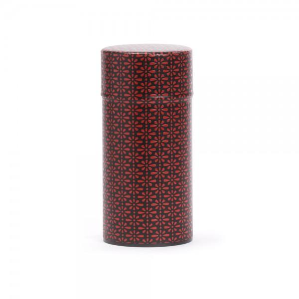 """""""Deiji"""", boîte à thé washi rouge et noire 150 g"""