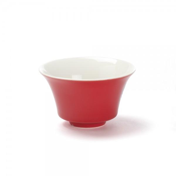 Color' red porcelain tea bowl, 12,5  cl