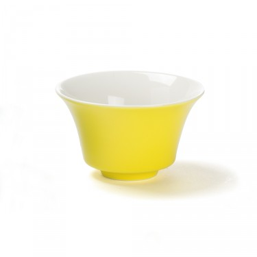 Color' yellow porcelain tea bowl, 12,5  cl