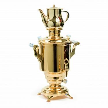 Romanov'' Electrical samovar électrique, golden plated, 5L