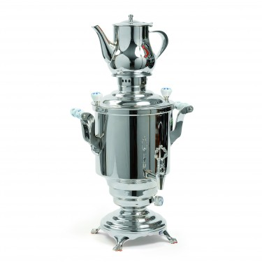 Romanov'' Electrical samovar électrique, stainless steel, 5L