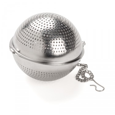 Perforated stainless steel round tea ball - DIAM. 6,5 cm