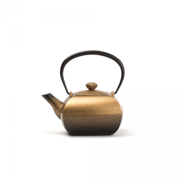 Japanese cast iron teapot - KANWA 0,4 L - GOLD