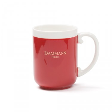 AFTERNOON -porcelain mug - Dark red