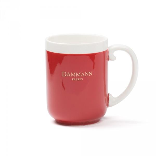 AFTERNOON -porcelain mug - Dark red
