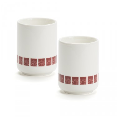 LOBBY - SET of 2 bowls - Burgundy pattern