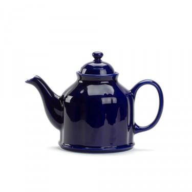 Porcelain teapot - CAMPAGNE 1.3 L - dark blue