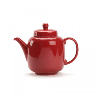 Porcelain teapot - BRUNCH 1L - Dark red