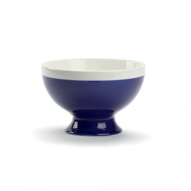 CAMPAGNE - Bol petit-déjeuner 35 CL - Bleu de four et blanc