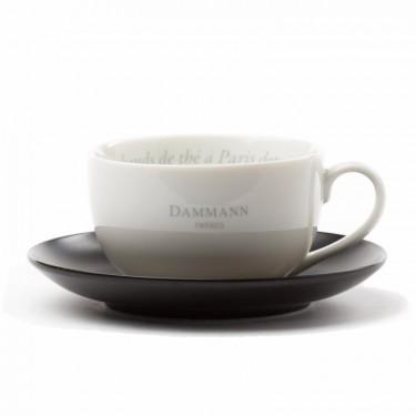 Dammann Frères jumbo tea cup & saucer