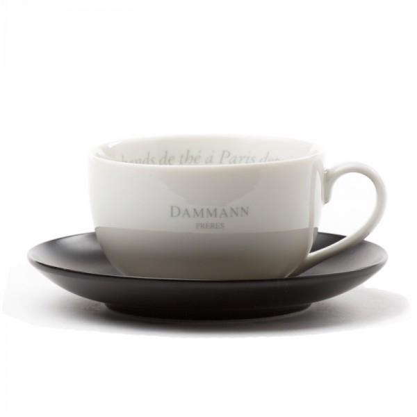 Tasse et sous-tasse à thé Dammann Frères