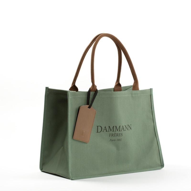 17fed850b9 SHOPPING BAG DAMMANN - kaki green