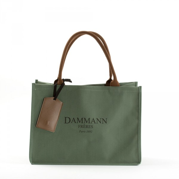 SHOPPING BAG DAMMANN - Kaki green