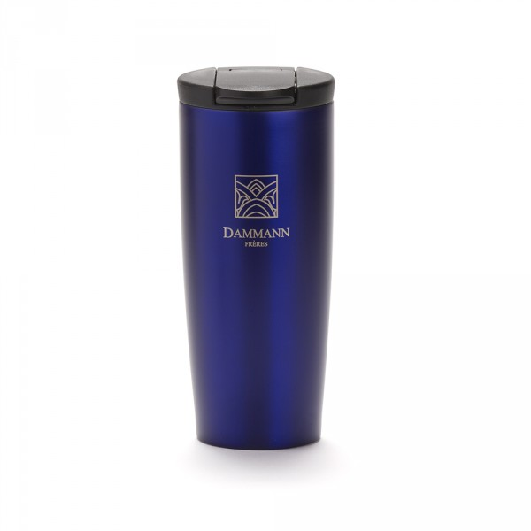"""NOMADE"", isothermal blue travel mug"