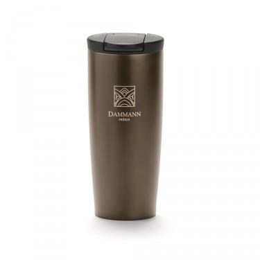 """""""NOMADE"""", isothermal bronzed travel mug"""