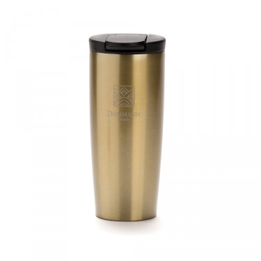 """NOMADE"", isothermal pearl gold travel mug"