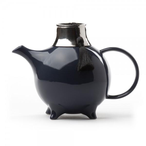 Théière Céramique - ''Fez'' avec filtre 1 L - Bleu Touareg