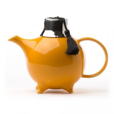 Théière Céramique - ''Fez'' avec filtre 1 L - Jaune