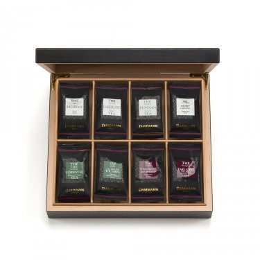 ASSORTMENT OF 48 ENVELOPED CRISTAL® SACHETS IN WOODEN CHEST