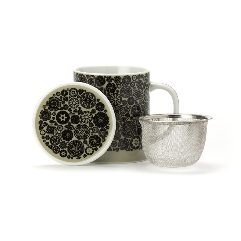 victoria mug porcelaine avec couvercle mastic dammann fr res. Black Bedroom Furniture Sets. Home Design Ideas
