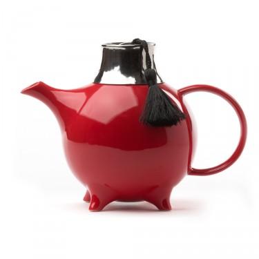 Théière Céramique - ''Fez'' avec filtre 1 L - Rouge