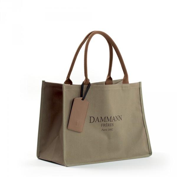 Shopping Bag Toile Kaki Brun