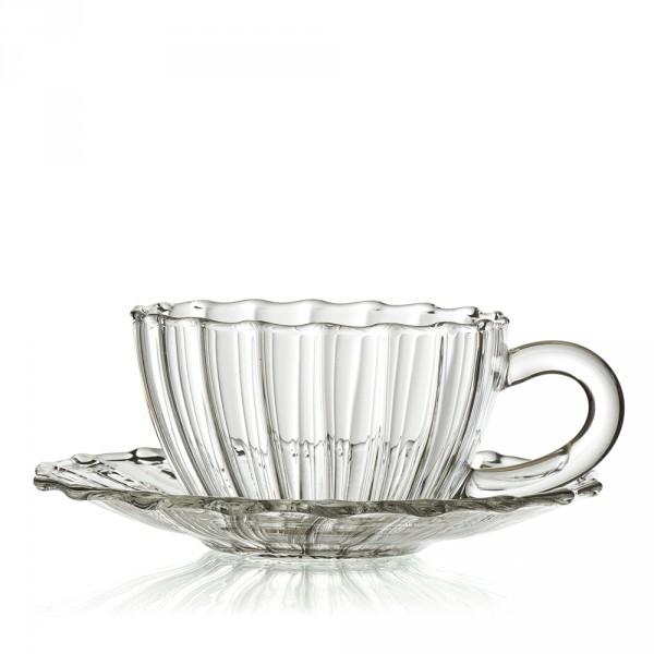 jaipur tasse sous tasse en verre cannel. Black Bedroom Furniture Sets. Home Design Ideas