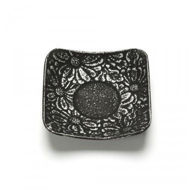 FLEURS, SILVER SQUARE SHAPED SAUCER